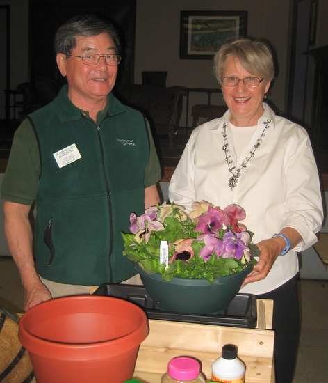 Gene Talks Container Gardening In Chevy Chase, D.C