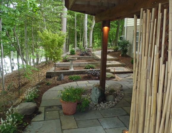 Creating a zen garden in a small lakeside space for Creating a zen space